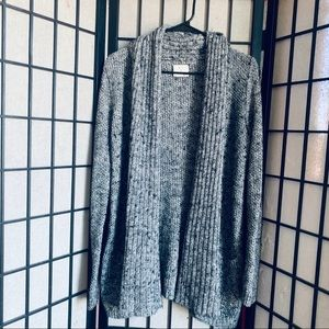 Pins & Needles black knit open front cardigan wool
